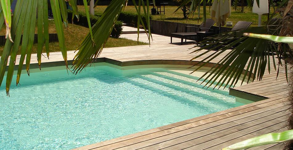Extérieur terrasse piscine