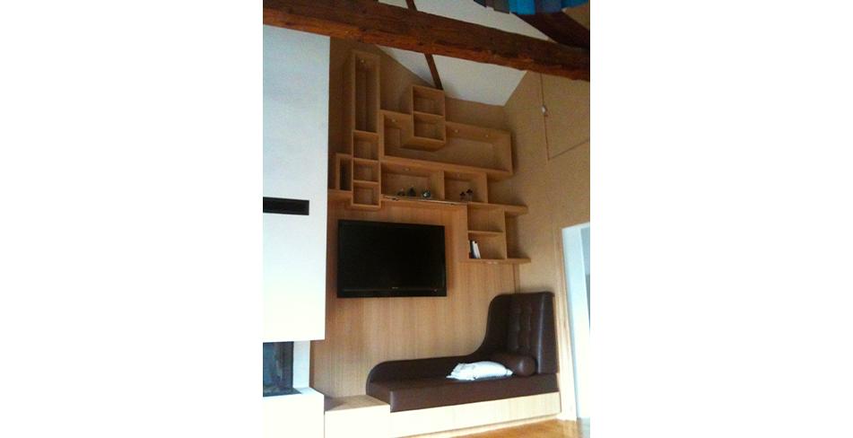 Mobilier meuble élévision banquette